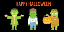 halloween party monsters clipart